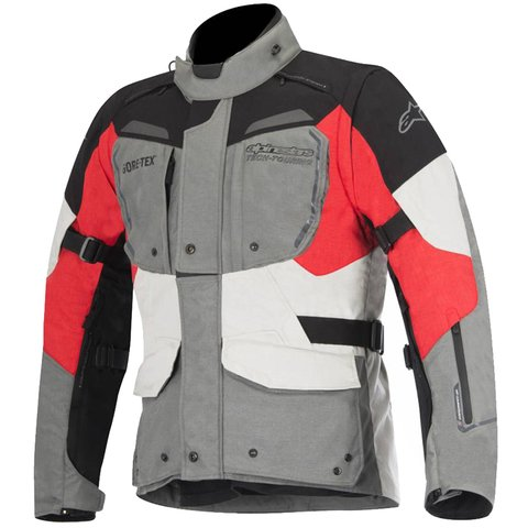 JAQUETA ALPINESTARS DURBAN GORE-TEX GRAY BLACK RED