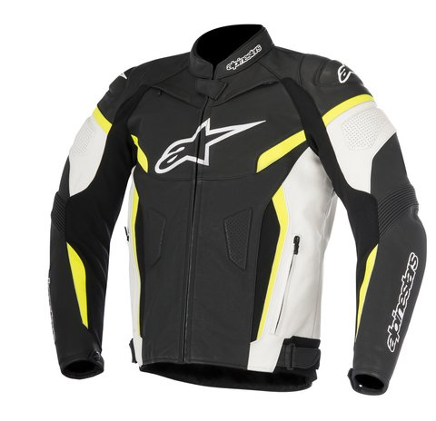 JAQUETA ALPINESTARS GP PLUS R V² - BLACK - WHITE - YELLOW FLUO