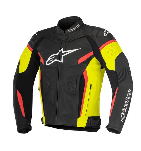 JAQUETA ALPINESTARS GP PLUS R V² - BLACK - YELLOW FLUO - RED FLUO