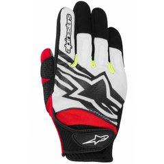LUVAS ALPINESTARS SPARTAN - BLACK - WHITE - YELLOW - RED