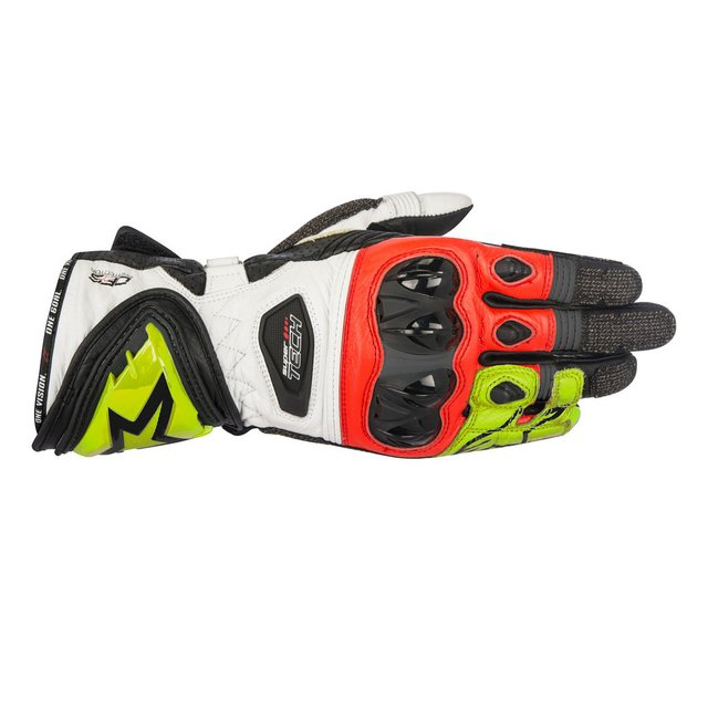 LUVAS ALPINESTARS SUPERTECH - BLACK - YELLOW FLUO - RED