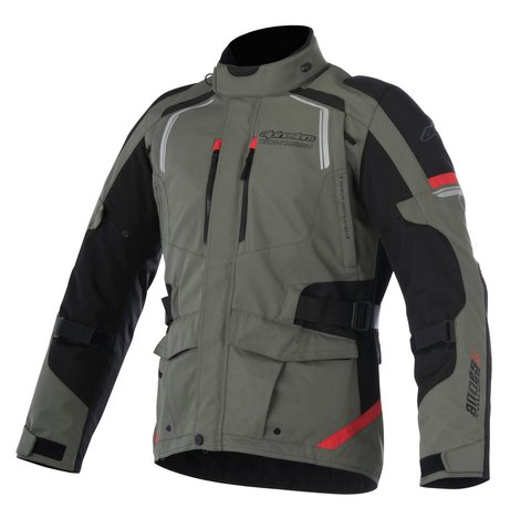 JAQUETA ALPINESTARS ANDES V2 DRYSTAR LIGHT GRAY BLACK DARK GRAY