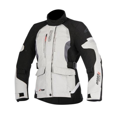JAQUETA ALPINESTARS STELLA ANDES V2 DRYSTAR® LIGHT GRAY BLACK DARK GRAY - FEMININA