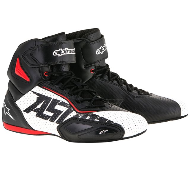TÊNIS ALPINESTARS FASTER 2 VENTED - BLACK WHITE RED