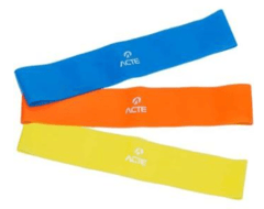 Kit de Elásticos Mini Bands com 3 Intensidades - ACTE SPORTS T71