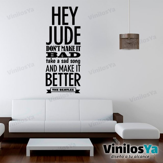 Vinilos Decorativos Musica The Beatles Hey Jude