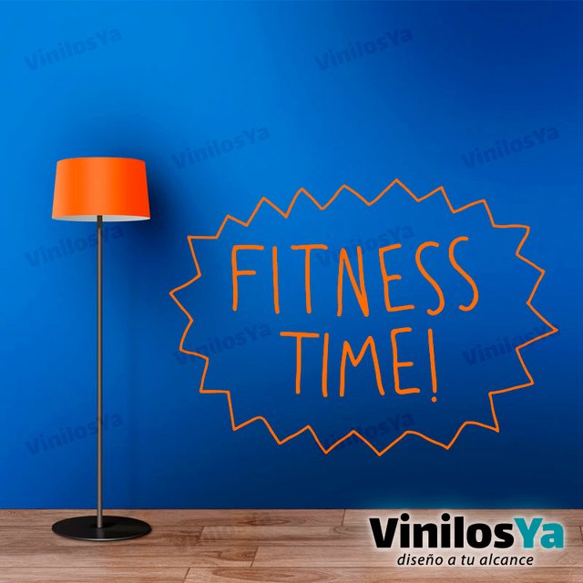 Vinilos Decorativos Gimnasio Frases Fitness Time