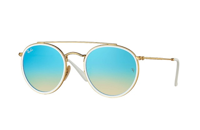 Ray Ban Round Doble Puente Espejado Degrade RB3647N 001/4O