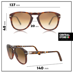 Persol PO0714 112151 SERIES 714 PLEGABLE DEGRADADO Anteojo de Sol - Optica Central Store