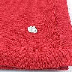 Manta Lisa Tomate - Baby Fio Tricot Infantil
