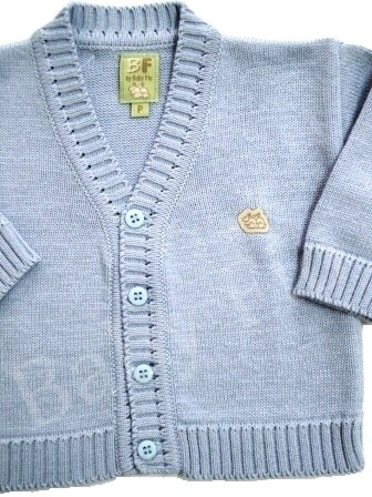 Cardigan Baby Fio Sky - Baby Fio Tricot Infantil