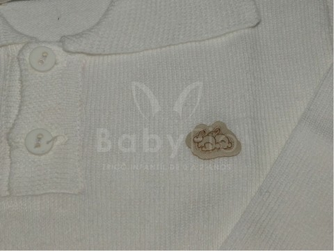 Polo Baby Fio branca - Baby Fio Tricot Infantil