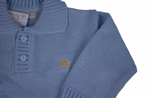 Polo Baby Fio sky - Baby Fio Tricot Infantil