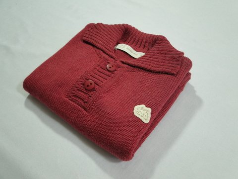 Polo Baby Fio cereja - Baby Fio Tricot Infantil