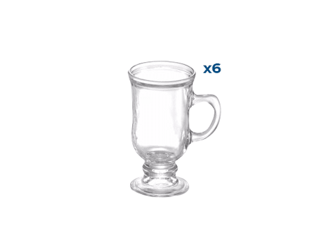 Set X6 Jarros Cafe 115 ml  Vidrio