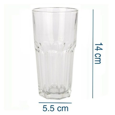 Vasos Vidrio Durax Alto Tipo Boston Country 330 Cc Transp.