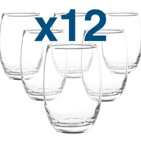 Set X12 Copon Sin Pie/tallo Vaso Aruba Nadir