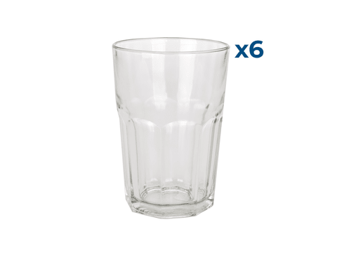 Vasos Facetado 400ml Set x 6