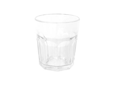Vaso Facetado Bajo 350ml