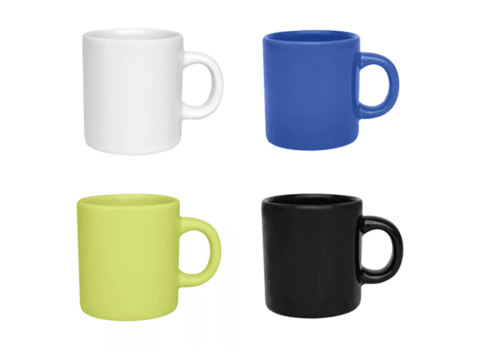 Set x 24 Jarritos Café Taza Mug Jarro Ceramica 100 Ml Biona Colores