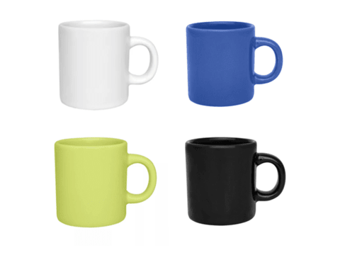 Set x 12 Jarritos Café Taza Mug Jarro Ceramica 100 Ml Biona Colores