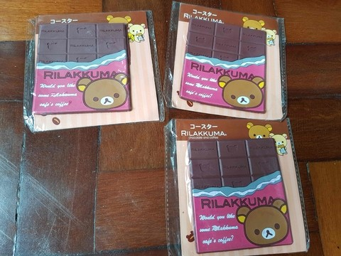 Kit com 3 Porta Copos Rilakkuma Chocolate