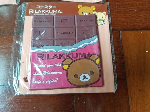 Kit com 3 Porta Copos Rilakkuma Chocolate na internet