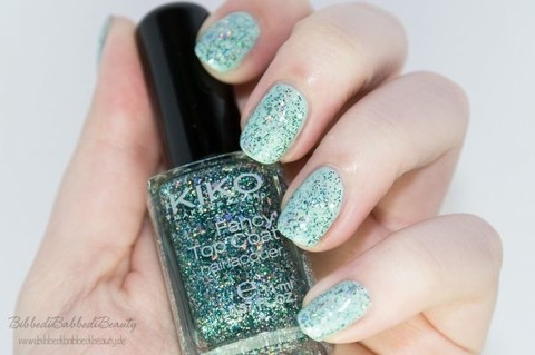 663 Turquoise - Kiko Fancy Top Coat - comprar online