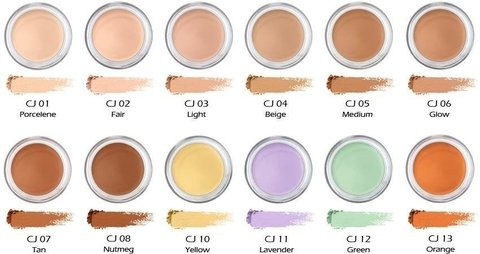 Corretivo CJ03 Light Nyx Concealer Jar Cremoso Full Coverage - comprar online