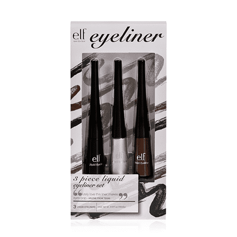 Kit com 3 Delineadores Líquidos elf - 3 Piece Liquid Eyeliner Set Elf