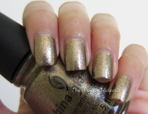 Goldie but Goodie - China Glaze Autumn Nights Collection na internet