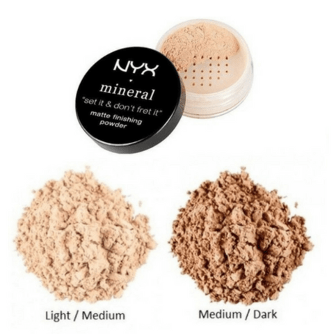 Matte Finishing Powder Mineral NYX - MFP02 MEDIUM/DARK - comprar online