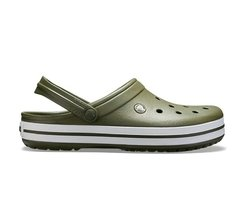 CROCSBAND ARMY GREEN WHITE