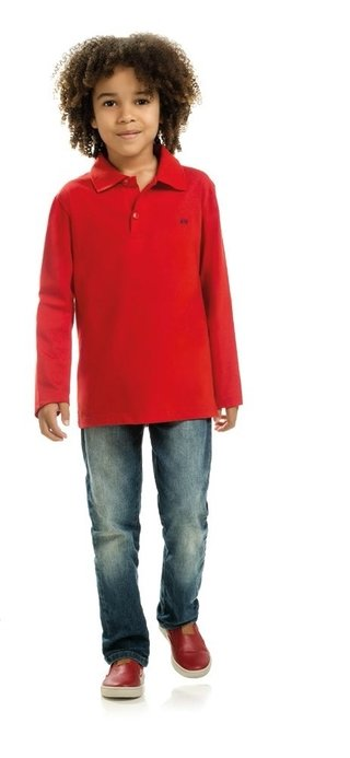 Camisa Polo Manga Comprida