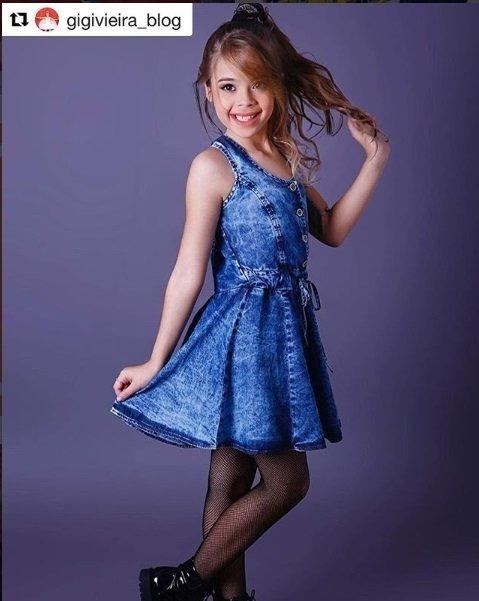 64ccc1315 Vestido Jeans - Garotada - Boutique dos Pequenos