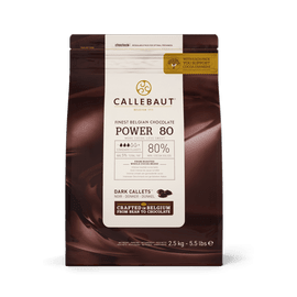 CHOCOLATE CALLEBAUT Amargo Power80  (80% CACAU) CALLETS 2,5KG