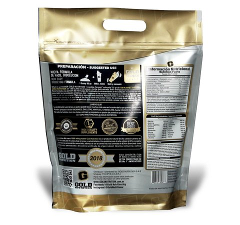 WHEY PROTEIN 5 LBS - GOLD NUTRITION - comprar online