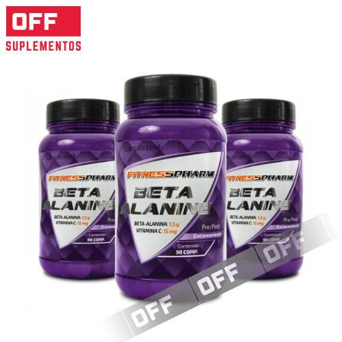 BETA ALANINA - 90 CAPSULAS - FITNESS PHARM