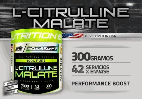 L-CITRULLINE MALATE 300GRS - STAR NUTRITION - comprar online