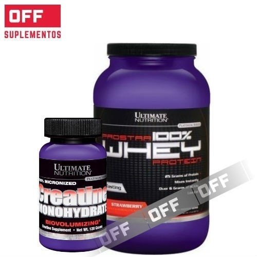 COMBO FUERZA - PROSTAR x 2LBS + CREATINA x 300GRS - ULTIMATE NUTRITION
