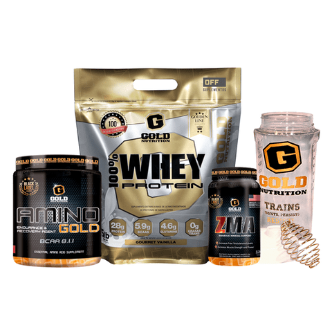 Pack crecimiento muscular gold nutrition+shaker
