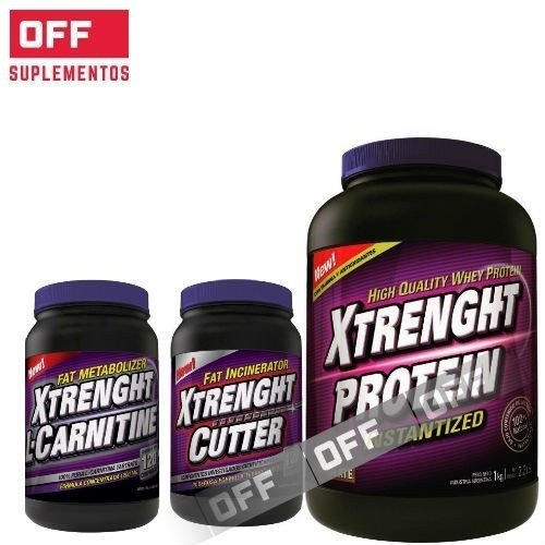 PROTEIN 1KG + CARNITINA 120COMP + CUTTER 120CAPS - XTRENGHT