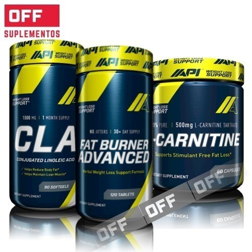 PACK QUEMA GRASAS 30% OFF - FAT BURNER ADVANCED 120TABS + CLA 90 SOFTGELS + CARINITINE 60CAPS - API
