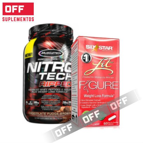 FIT FIGURE  60CAPS + NITRO TECH RIPPED  4LBS  + TOALLA DE ENTRENAMIENTO DE REGALO.
