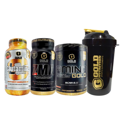 COMBO RECUPERACION + SHAKER - GOLD NUTRITION