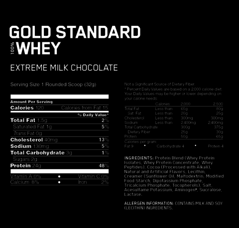 GOLD STANDARD 100% WHEY 2Lbs - ON - comprar online