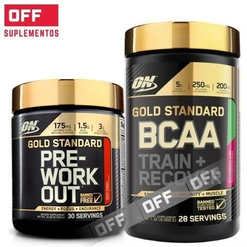 COMBO GOLD STANDARD:  PRE WORK + BCAA - ON