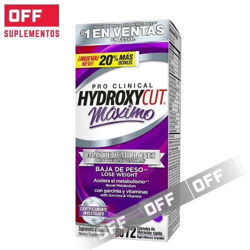 HYDROXYCUT PRO CLINICAL MAXIMO - 72SV - MUSCLETECH