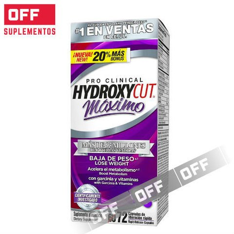HYDROXYCUT PRO CLINICAL MAXIMO  72SV - MUSCLETECH