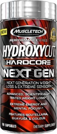 HYDROXYCUT HARDCORE NEXT GEN 180Caps - MUSCLETECH